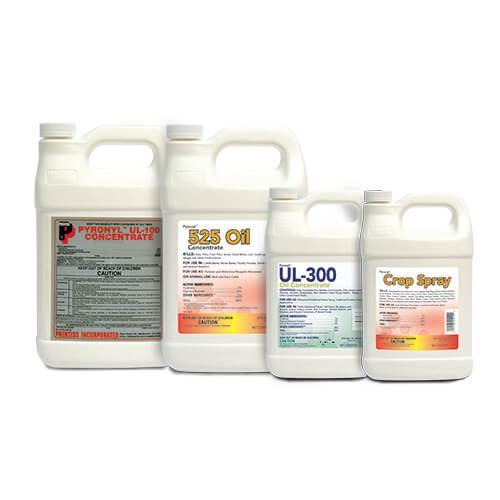 Four different Pyronyl products sit side-by-side.